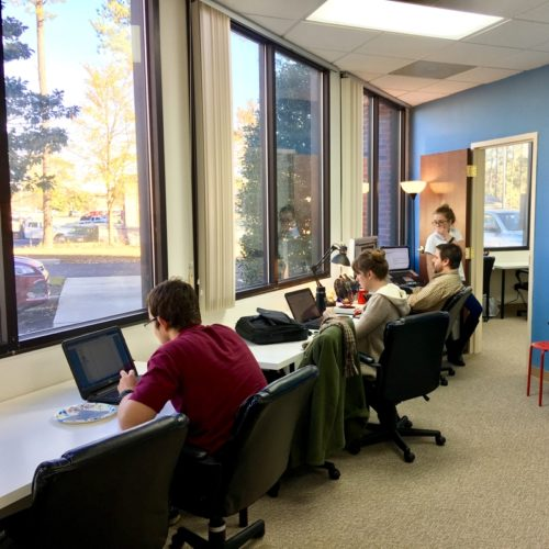 Fuquay Coworking Members at Work