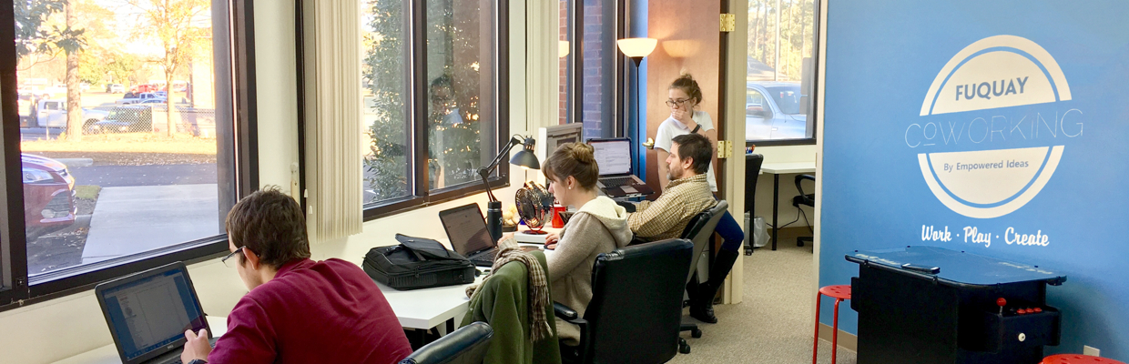 Fuquay Coworking Dedicated Desk Area