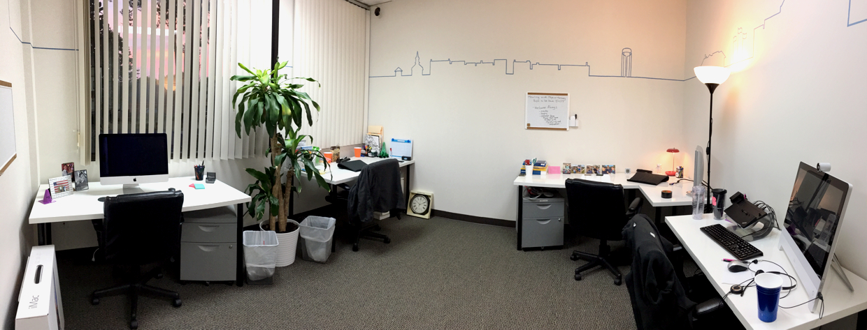 Fuquay Coworking Enclosed Dedicated Desk Area