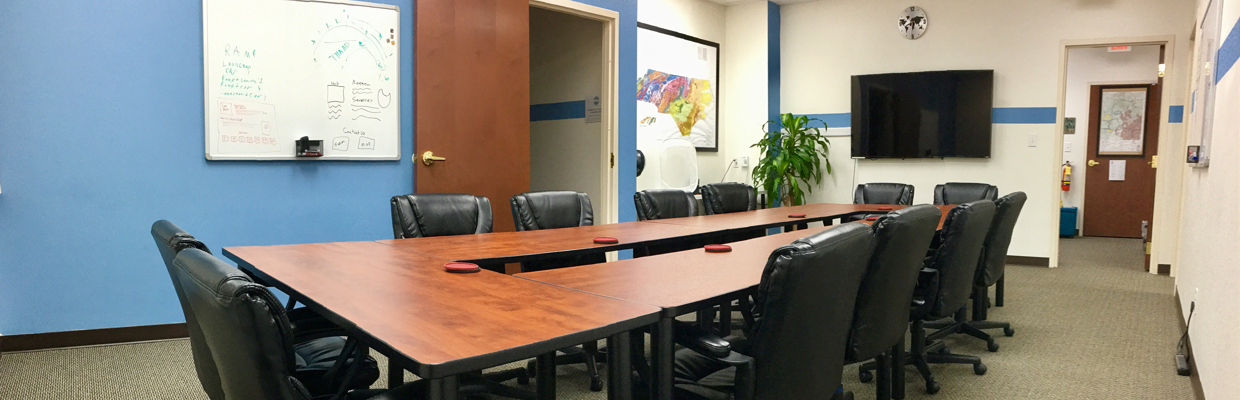 Fuquay Coworking Executive Board Room Setup