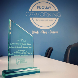 Fuquay Coworking Rising Star Award by the Fuquay-Varina Chamber of Commerce
